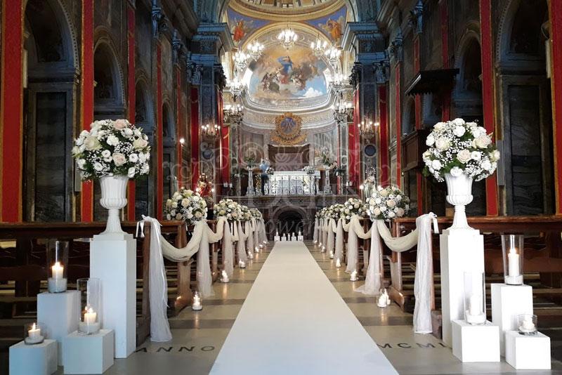 addobbo cerimonia matrimonio religioso