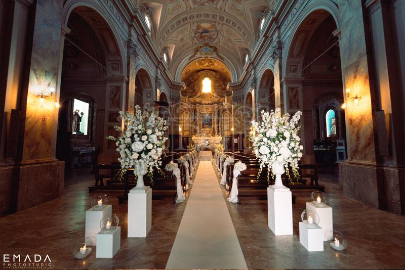 cerimonia matrimonio total white vasi medicei