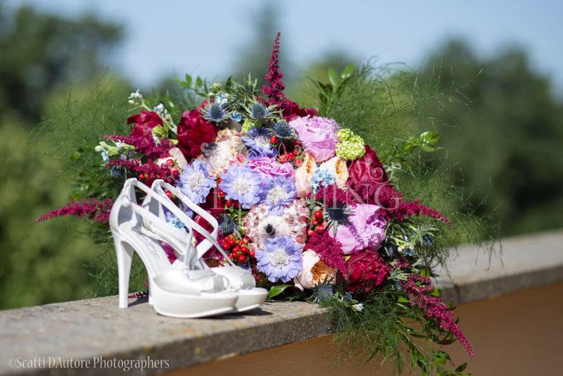bouquet sposa grande protea peonia