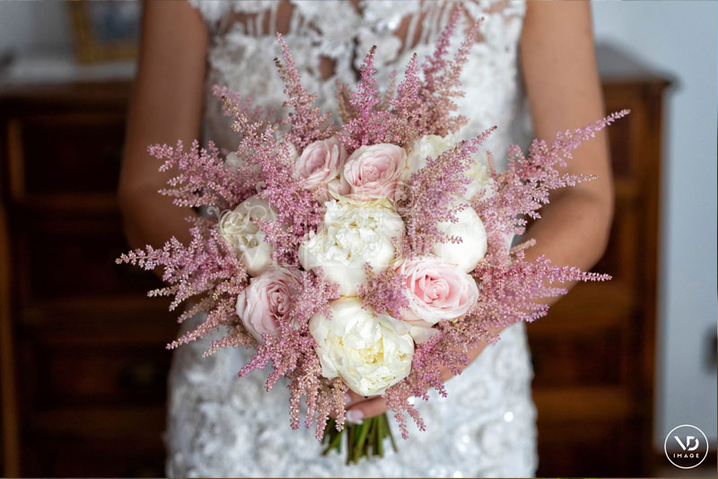 bouquet sposa peonie rose sweet avalanche astilbe