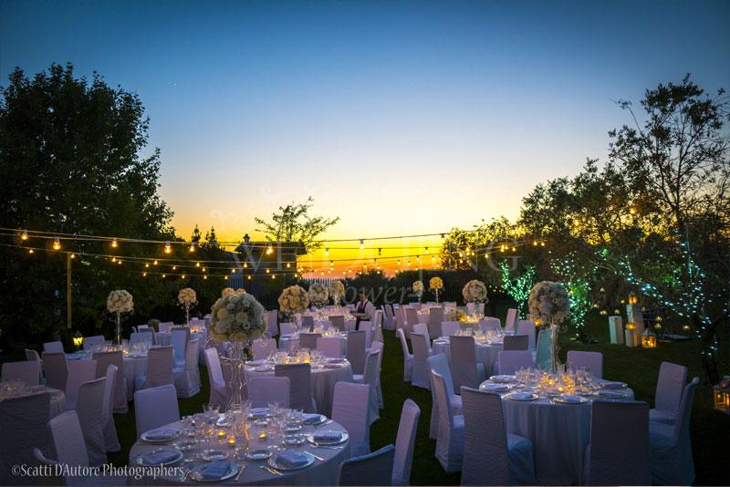 cena matrimonio tramonto