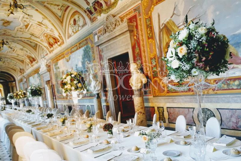 tavoli imperiale matrimonio castello centrotavola alti