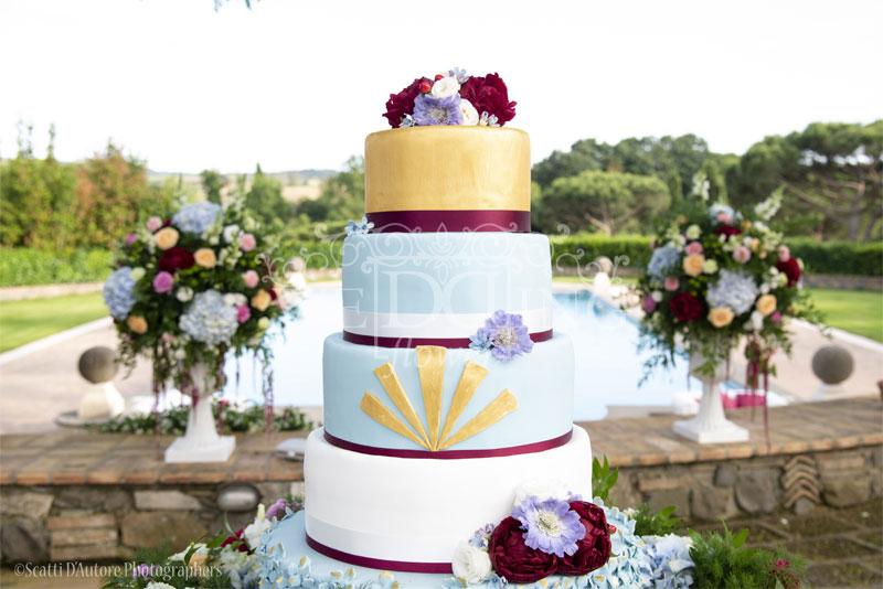wedding cake 5 piani tenuta ripolo
